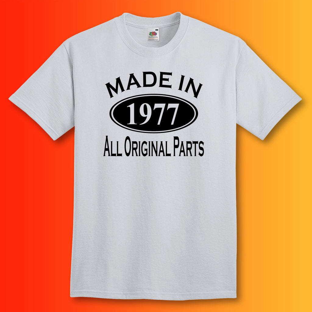 Made In 1977 T-Shirt Heather Grey