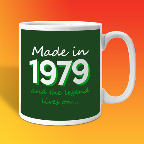 Made In 1979 and The Legend Lives On Bottle Green