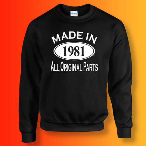 Made In 1981 All Original Parts Sweater Black