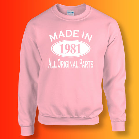 Made In 1981 All Original Parts Sweater Light Pink