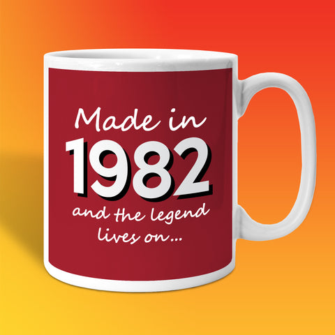 Made In 1982 and The Legend Lives On Brick Red