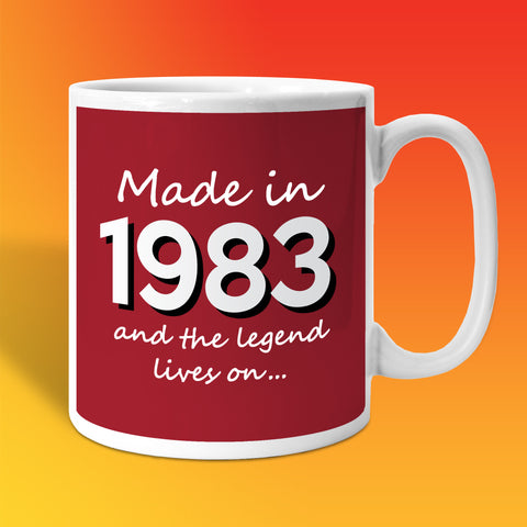 Made In 1983 and The Legend Lives On Brick Red