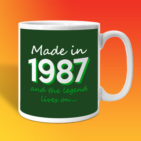 Made In 1987 and The Legend Lives On Bottle Green