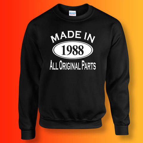 Made In 1988 All Original Parts Sweater Black