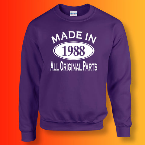 Made In 1988 All Original Parts Sweater Purple