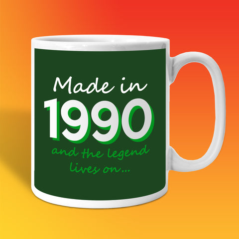 Made In 1990 and The Legend Lives On Bottle Green