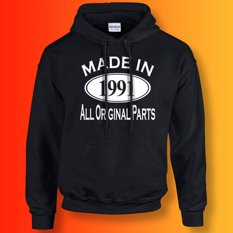 Made In 1991 Hoodie Black