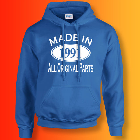 Made In 1991 Hoodie Royal Blue