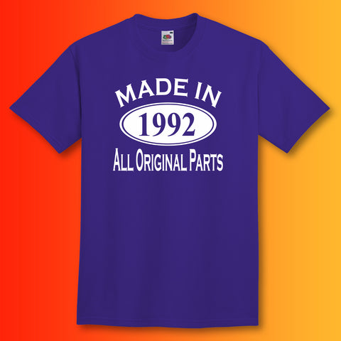 Made In 1992 T-Shirt Purple