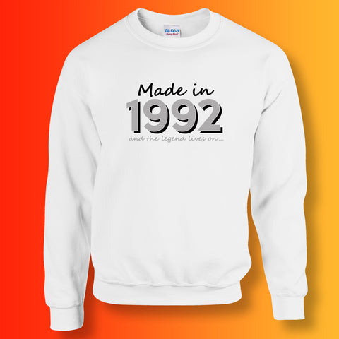 Made In 1992 and The Legend Lives On Sweater White