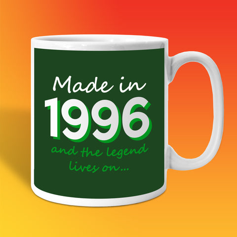 Made In 1996 and The Legend Lives On Bottle Green