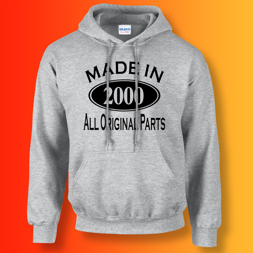 Made In 2000 Hoodie Heather Grey