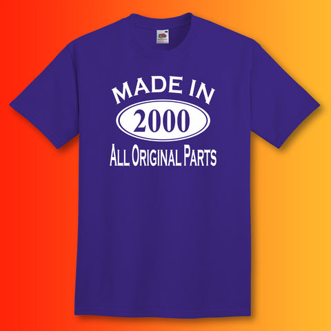 Made In 2000 T-Shirt Purple