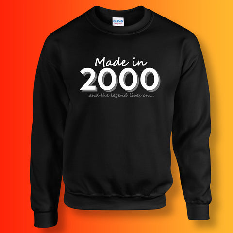 Made In 2000 and The Legend Lives On Sweater Black