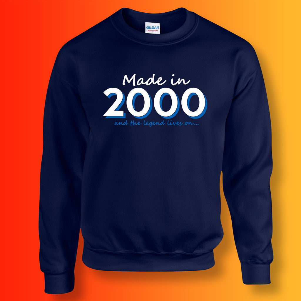 Made In 2000 and The Legend Lives On Sweater Navy