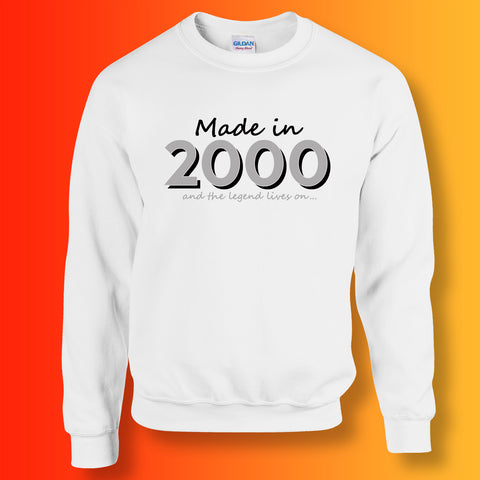 Made In 2000 and The Legend Lives On Sweater White