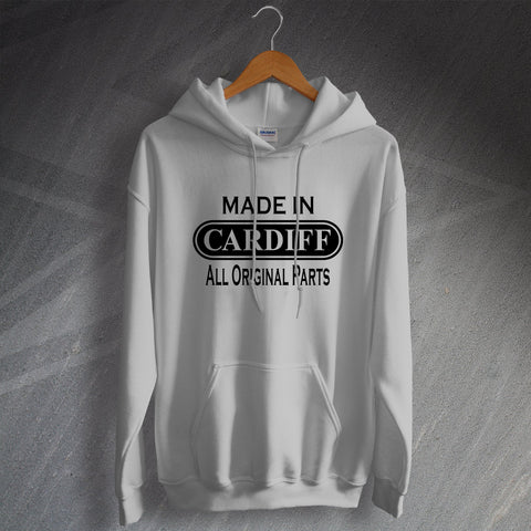 Cardiff Hoodie Made in Cardiff All Original Parts