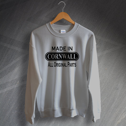 Cornwall Sweatshirt Made in Cornwall All Original Parts