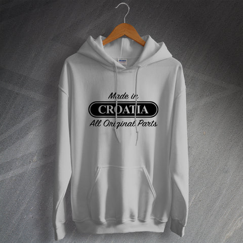 Croatia Hoodie Made in Croatia All Original Parts
