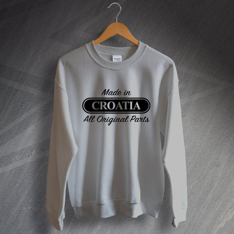 Croatia Sweatshirt Made in Croatia All Original Parts