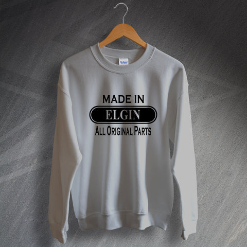 Elgin Sweatshirt Made in Elgin All Original Parts