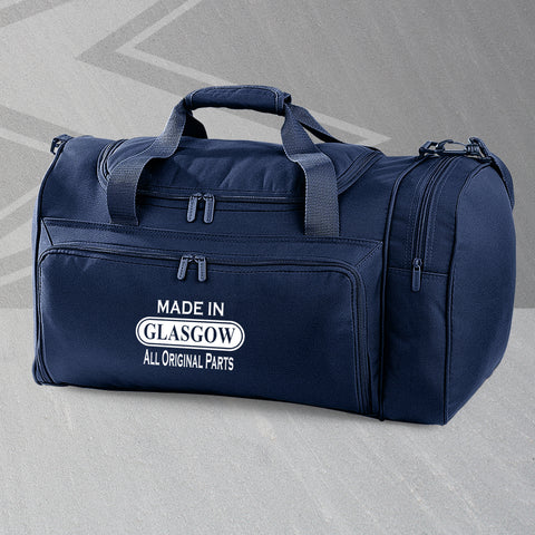 Made In Glasgow All Original Parts Embroidered Universal Holdall