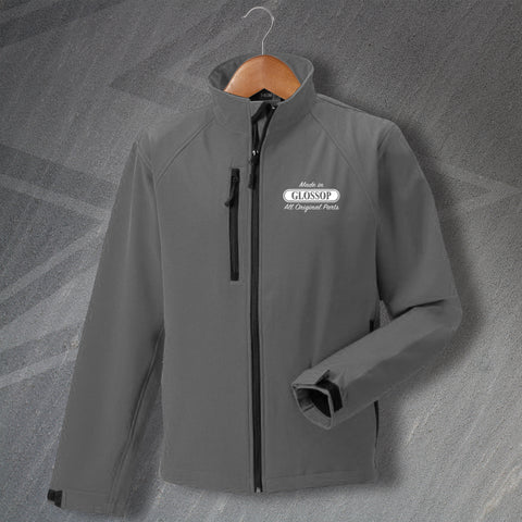 Glossop Jacket Embroidered Softshell Made in Glossop All Original Parts