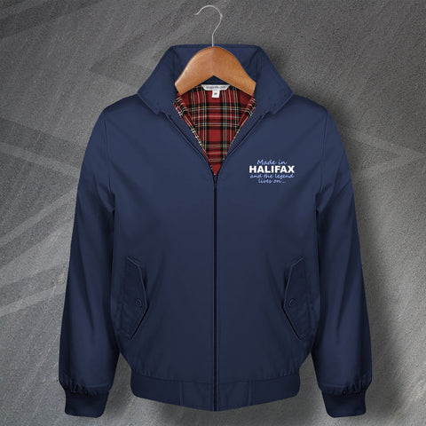 Halifax Harrington Jacket Embroidered Made in Halifax and The Legend Lives On
