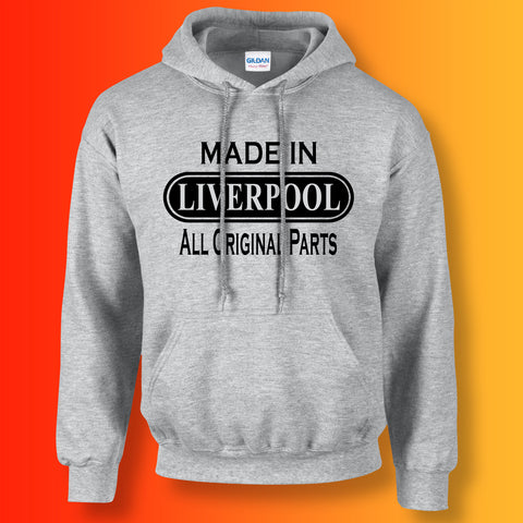 Made In Liverpool All Original Parts Unisex Hoodie