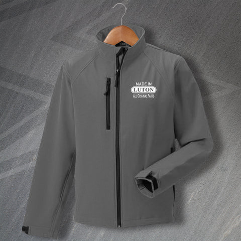 Luton Jacket Embroidered Softshell Made in Luton All Original Parts