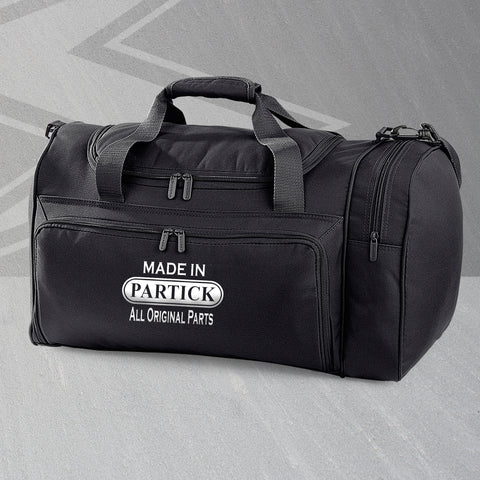 Partick Holdall Embroidered Made in Partick All Original Parts