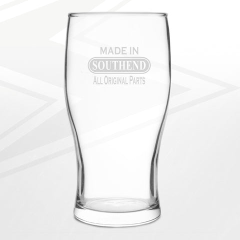 Southend Pint Glass Engraved Made in Southend All Original Parts