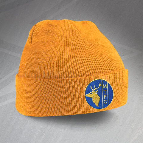 Mansfield Football Beanie Hat Embroidered 1984