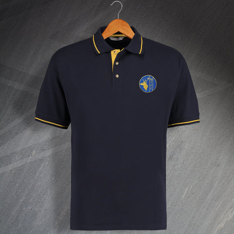 Mansfield Football Polo Shirt Embroidered Contrast 1984