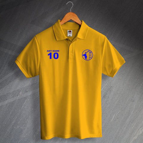 Retro Mansfield Printed 1984 Polo Shirt Personalised with any Number & Name