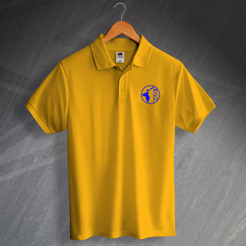 Retro Mansfield Polo Shirt with Printed 1984 Badge