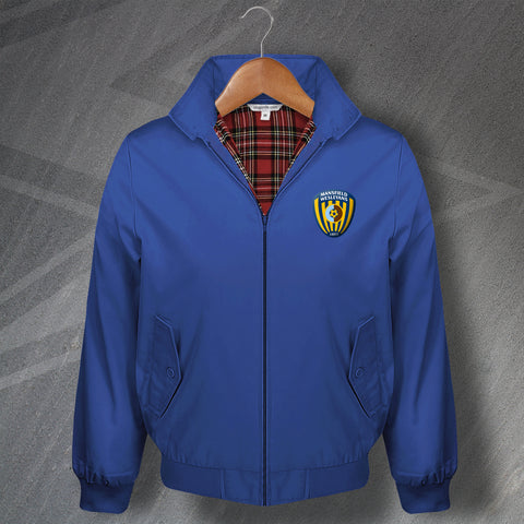 Mansfield Football Harrington Jacket Embroidered Mansfield Wesleyans