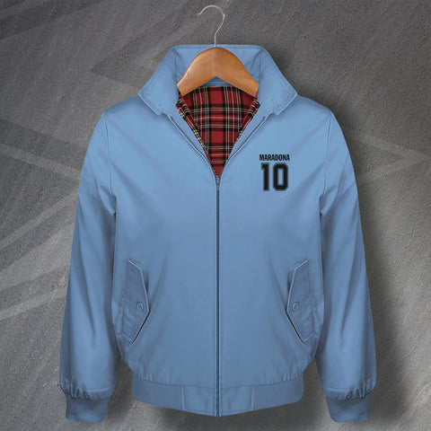 Maradona 10 Football Harrington Jacket Embroidered