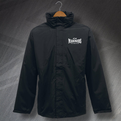 Grimsby Football Jacket Embroidered Waterproof Mariners It's a Way of Life
