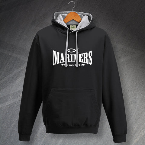 Grimsby Football Hoodie Contrast Mariners It's a Way of Life