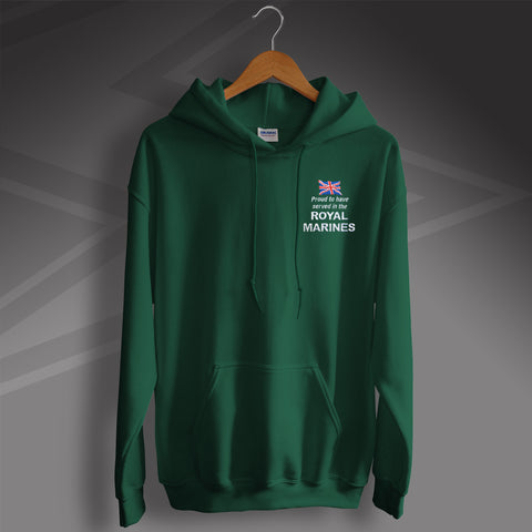 Proud to Have Served In The Royal Marines Embroidered Hoodie