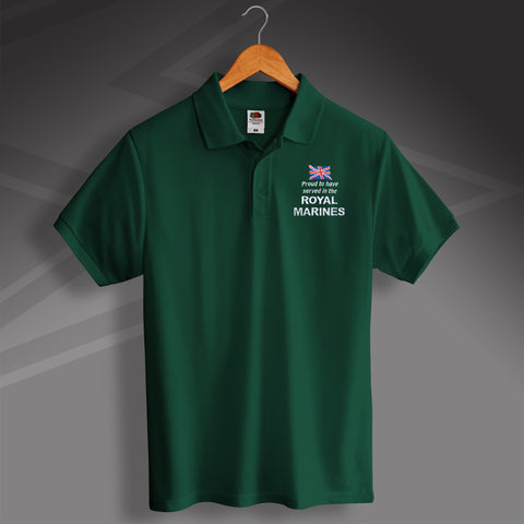 Royal Marines Polo Shirt Embroidered Proud to Have Served