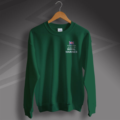 Royal Marines Sweatshirt Embroidered Proud to Have Served