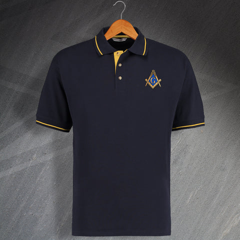 Masons Embroidered Contrast Polo Shirt