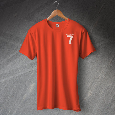 Blackpool Football T-Shirt Embroidered Matthews 7