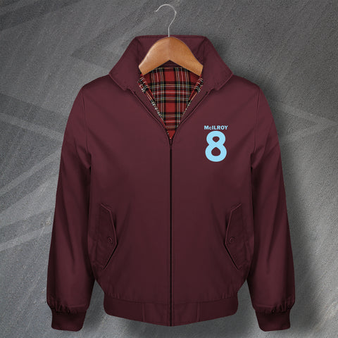 Burnley Football Harrington Jacket Embroidered McIlroy 8