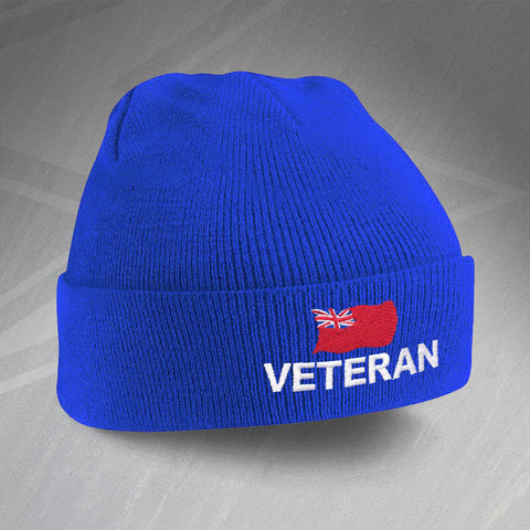 Merchant Navy Veteran Embroidered Beanie Hat