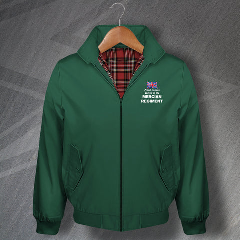Mercian Regiment Harrington Jacket Embroidered Proud to Have Served