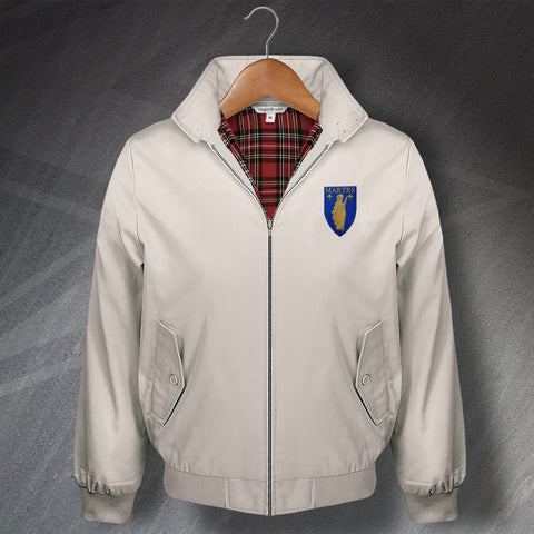 Retro Merthyr Tydfil Classic Harrington Jacket with Embroidered Badge
