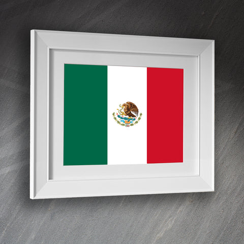 Mexico Framed Print Flag of Mexico